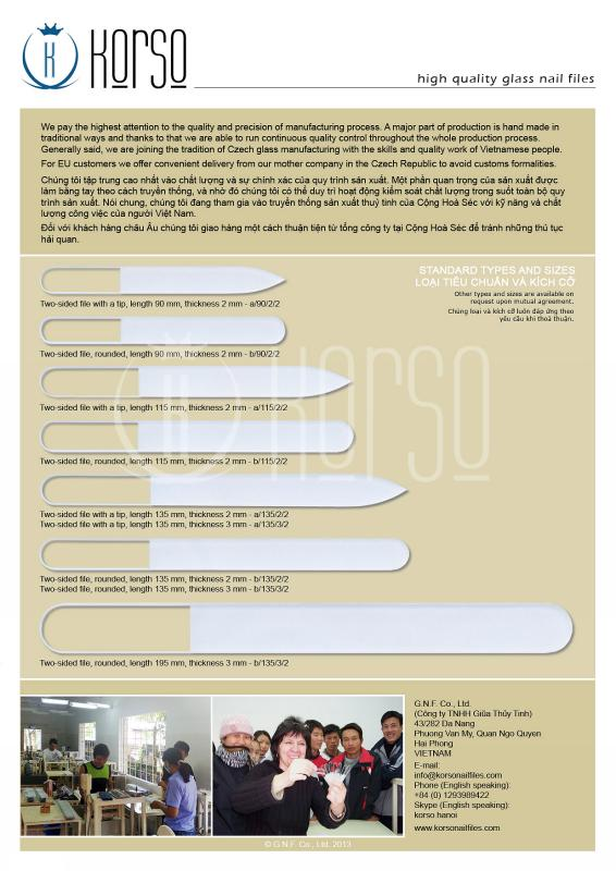 Korso Glass Nail Files - Glass Nail Files - Leaflet - korso
